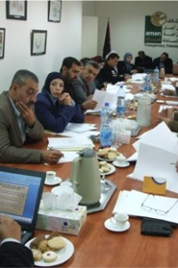 AMAN Prepares and Discusses the Draft for its Special Complaints System for Palestinian Local Institutions
