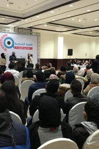 Under the Umbrella of Aman Coalition and Sharek Youth Forum; Legitimate youth claims deposited to the Youth Summit to seek solutions