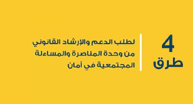 طريقة طلب الدعم والارشاد القانوني من وحدة المناصرة والمساءلة المجتمعية في مؤسسة أمان